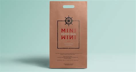 mini psd paper bag mockup psd mock up templates pixeden