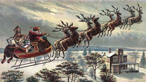 santa and reindeer sleigh a few more retro santa claus and posters the