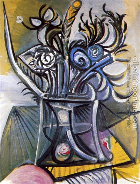picasso paintings pdf picasso pablo vase of flowers on a table canvas