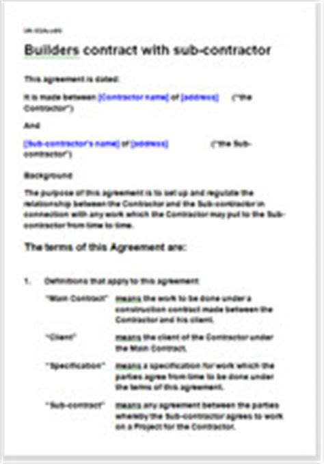 contract builder builder terms and conditions template contract for services