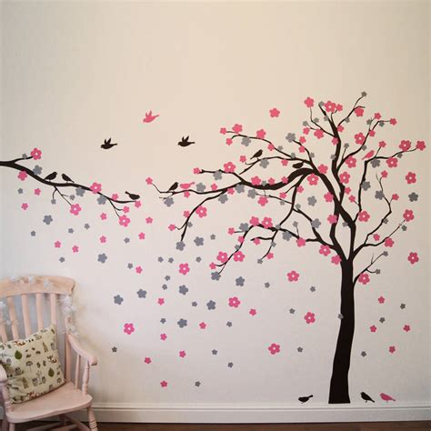 wall decor tree stickers floral blossom tree wall stickers by parkins interiors