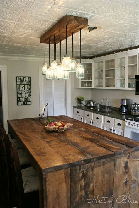kitchen island rustic barn wood table diy woodworking projects plans
