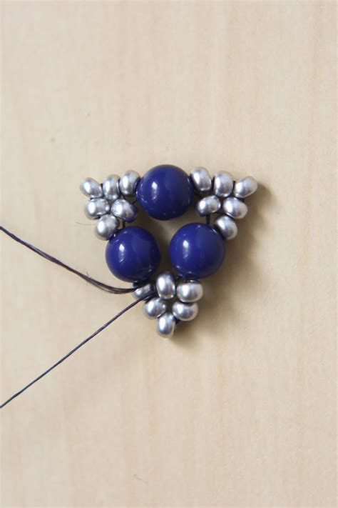 beaded triangle earrings beaded triangle earrings
