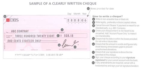 how to make credit card payment by cheque faqs on cheque usage dbs singapore