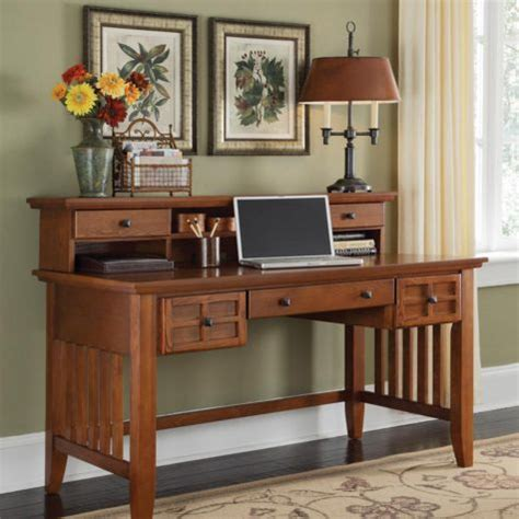 mission style computer desk with hutch mission style 54 quot exec writing desk with hutch