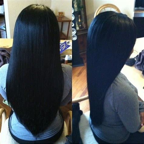 after ends 25 best ideas about relaxed hair on