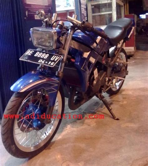 Modifikasi Rx King Warna Biru by Modifikasi R Ganti Lu Depan Dengan Lu Rx King