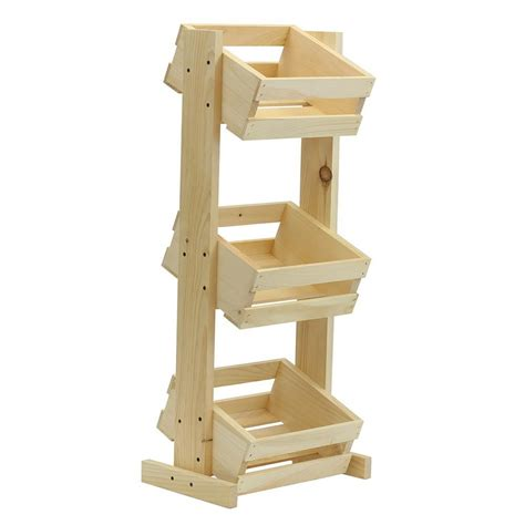 woodworking stand crates pallet small tiered wood stand unfinished 69019