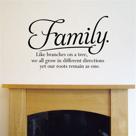 wall quote sticker family like branches on a tree h556k