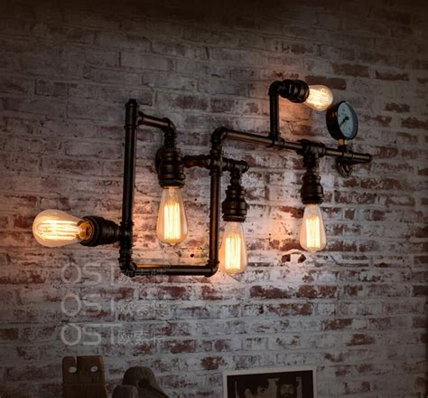 vintage industrial home decor american vintage industrial water pipe wall l inon