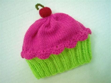 cupcake knitted hat pattern free cupcake hat preemie to sizing by stellasknits