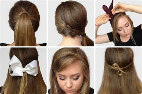 step by step guide to a beauitful hairstyle how to do six simple yet pretty hairstyles step by step