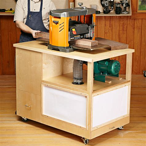 woodworking stand dust collecting tool stand woodworking plan from wood magazine
