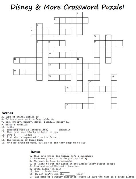 crossword clue crafts crossword