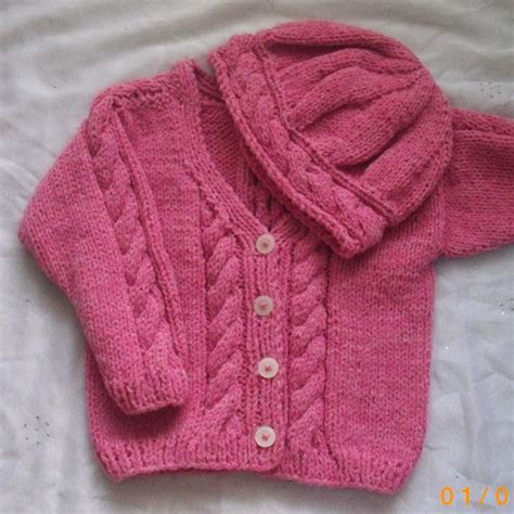 knitting pattern for baby with roisin cardigan and hat pdf knitting pattern for babies