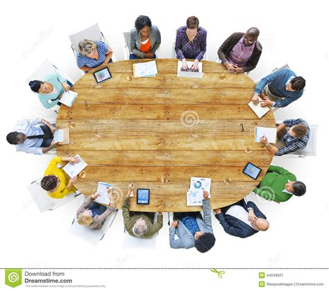 around the table diverse working around the conference table stock
