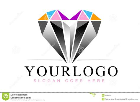 heart diamond logo stock image image 27438441