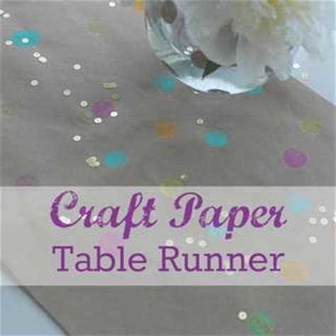 craft paper table runner polka dots ideas for a baby shower catch my