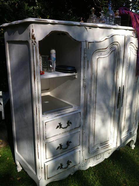 chalk paint muebles melamina provenzal blanco decapado cajones y estantes vajilleros