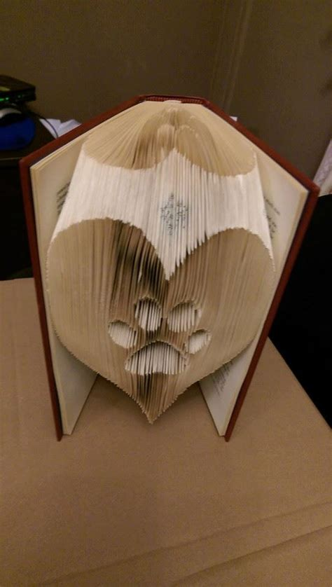book folding origami paw in a folded book pattern pdf book folding