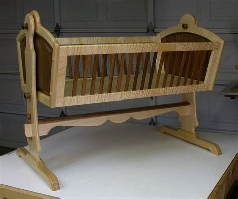 woodworking plans for baby cradle maple walnut heirloom baby cradle by dewoodwork