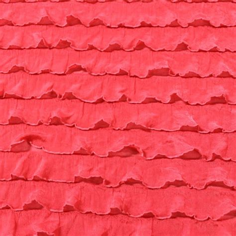 coral knit fabric coral pink stretch ruffle knit fabric fabric