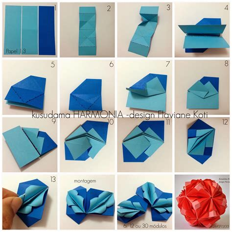 do origami kusudama harmonia design flaviane koti terapia do papel