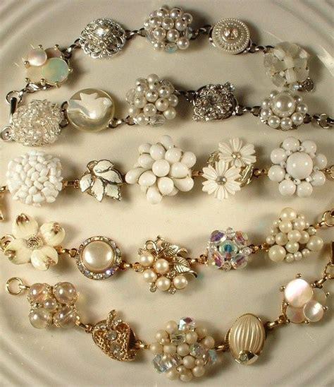 how to make vintage jewelry best 25 vintage bracelet ideas on button