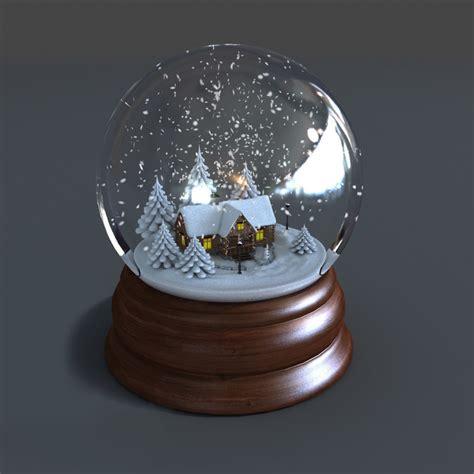 snow globe 3d model of snow globe animations