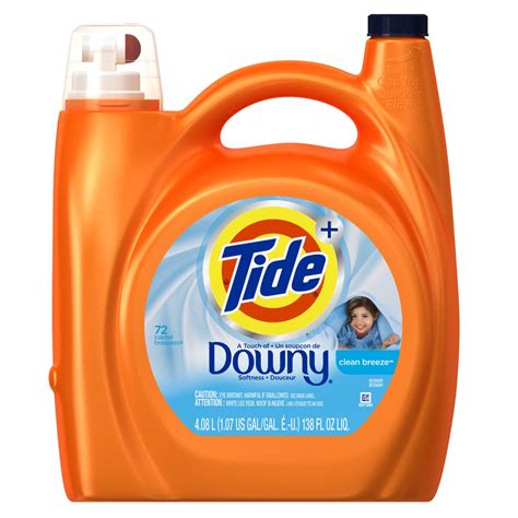 downy laundry tide plus with downy laundry detergent clean 72