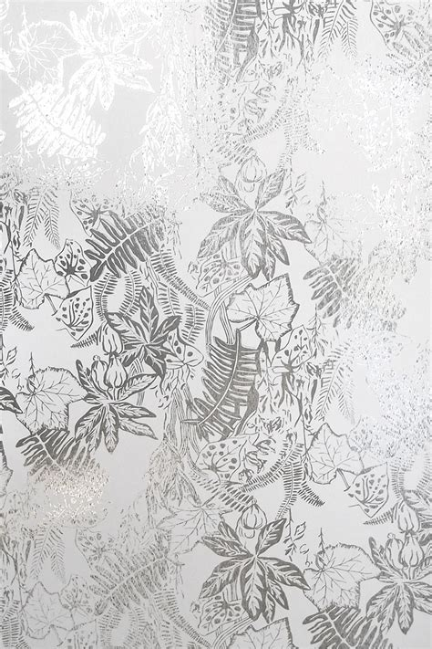 silver and white hothouse wallpaper silver and white monument interiors