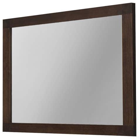 contemporary bathroom wall mirrors 40 quot nordico wall framed mirror solid wood walnut