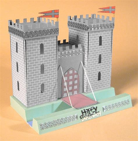 how to make a card castle card craft card templates opening 3d castle by