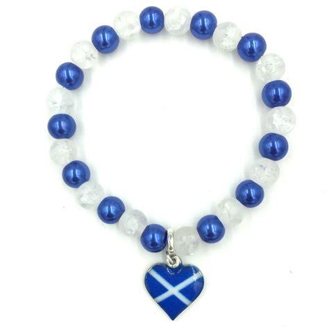 scottish bead shop scottish charm bracelet with glass only 1 25each