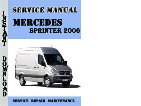 free online car repair manuals download 2006 mercedes benz sl65 amg parental controls mercedes benz sprinter workshop manual download