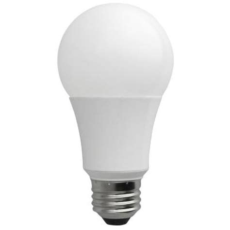 home depot led light bulbs 60w equivalent soft white a19 non dimmable led light bulb
