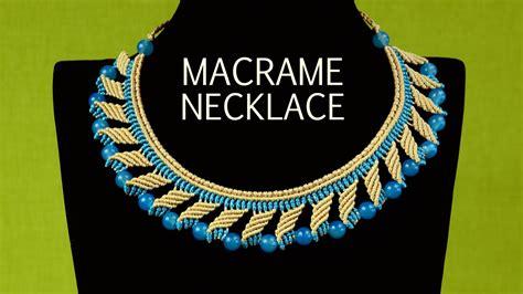 how to make macrame jewelry nefertiti macram 233 necklace tutorial macrame school