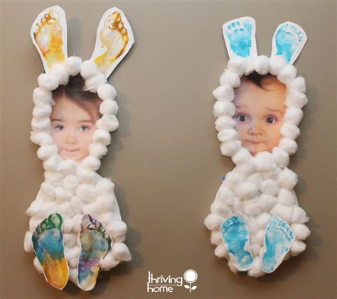 easter arts and crafts for easter craft idea bunnies thriving home