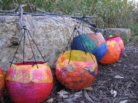 tissue paper lantern craft make tissue paper balloon lanterns 187 dollar store crafts