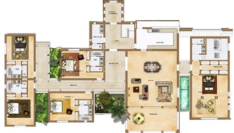villa plan plan villa maroc plan maison plans maroc