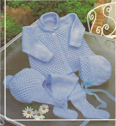 baby sets knitting patterns vintage knitting baby boy pram set knitting pattern pdf