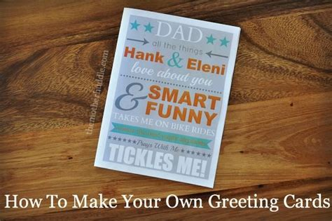 how to make your own greeting cards the world s catalog of ideas