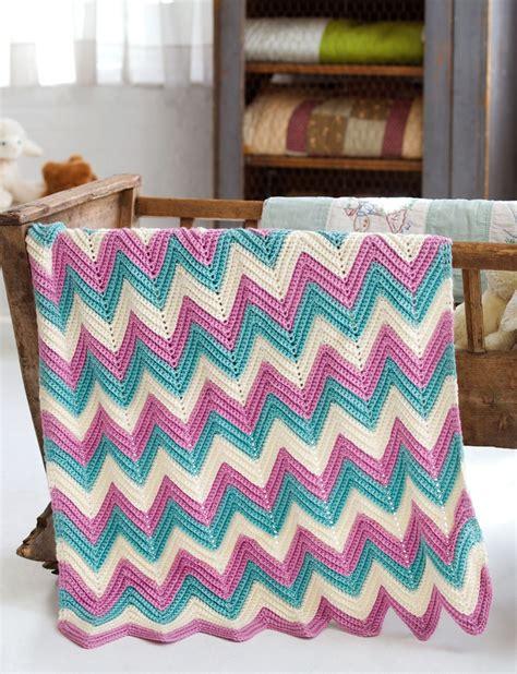 zig zag baby blanket knitting pattern caron zig zag baby blanket crochet pattern yarnspirations