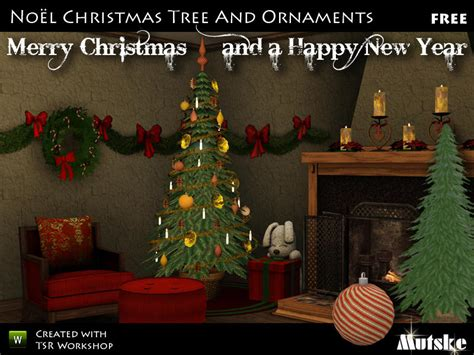 sims 3 weihnachtsbaum mutske s tree and decoration