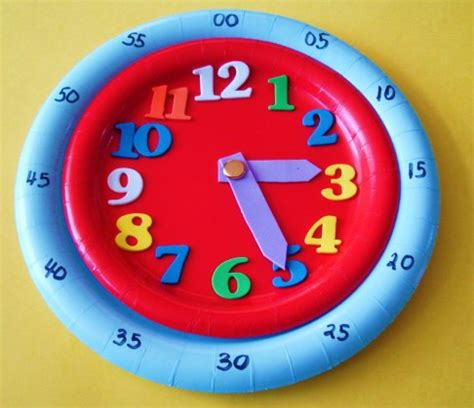 clock craft project learning ideas grades k 8 5 minute interval paper plate