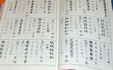 japanese picture book japanese calligraphy dictionary book character kanji