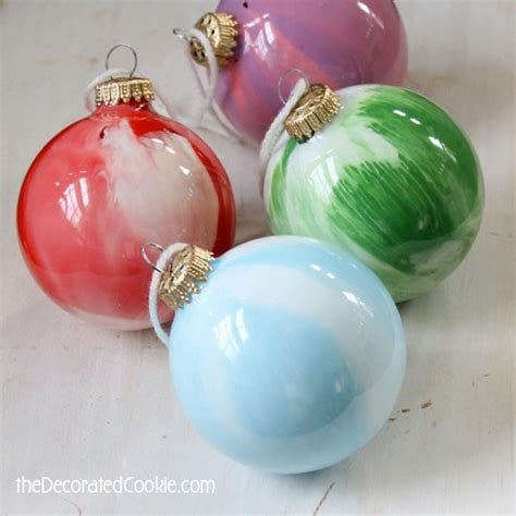 easy ornament crafts for easy paint swirl ornaments are a kid friendly craft