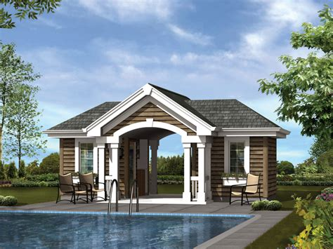 pool house plans with bathroom summersun pool pavilion plan 009d 7527 house plans and more
