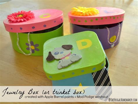 kid craft box jewelry box or trinket box craft with plaid crafts