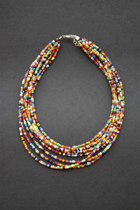 indian beaded jewelry indian seed bead necklace